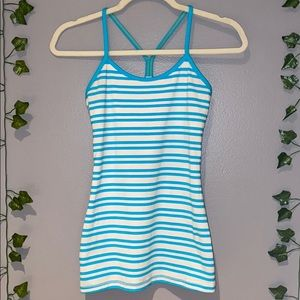 Woman's Lululemon Striped Racerback Workout Top 4